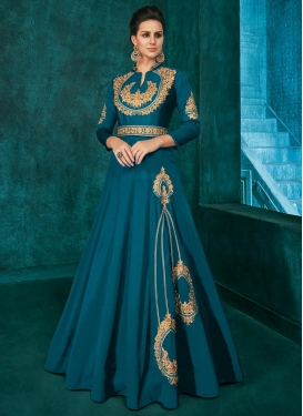 Tafeta Silk Readymade Classic Gown For Ceremonial