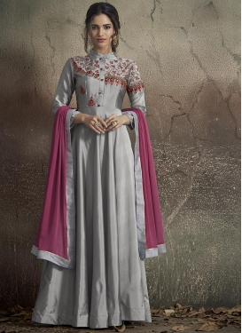 Tafeta Silk Readymade Designer Gown