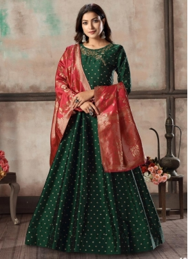 Tafeta Silk Readymade Designer Salwar Suit For Ceremonial