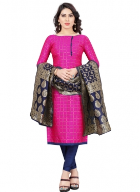 Tafeta Silk Thread Work Churidar Salwar Kameez