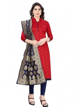 Tafeta Silk Trendy Churidar Salwar Kameez For Casual