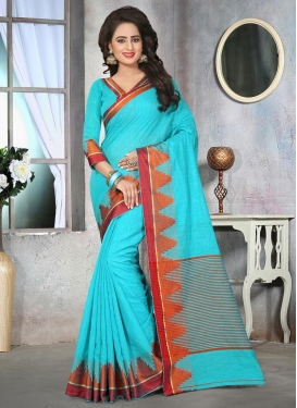 Talismanic Cotton Silk Resham Work Contemporary Style Saree