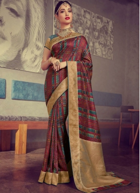 Tamannaah Bhatia Art Silk Traditional Designer Saree