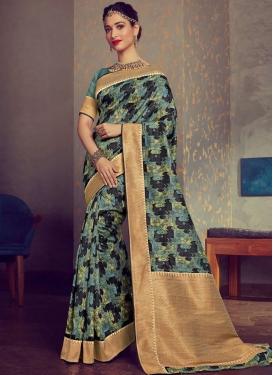 Tamannaah Bhatia Multi Colour Art Silk Designer Traditional Saree