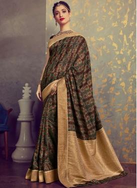 Tamannaah Bhatia Woven Multi Colour Art Silk Traditional Designer Saree