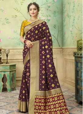 Thread Work Art Silk Trendy Classic Saree