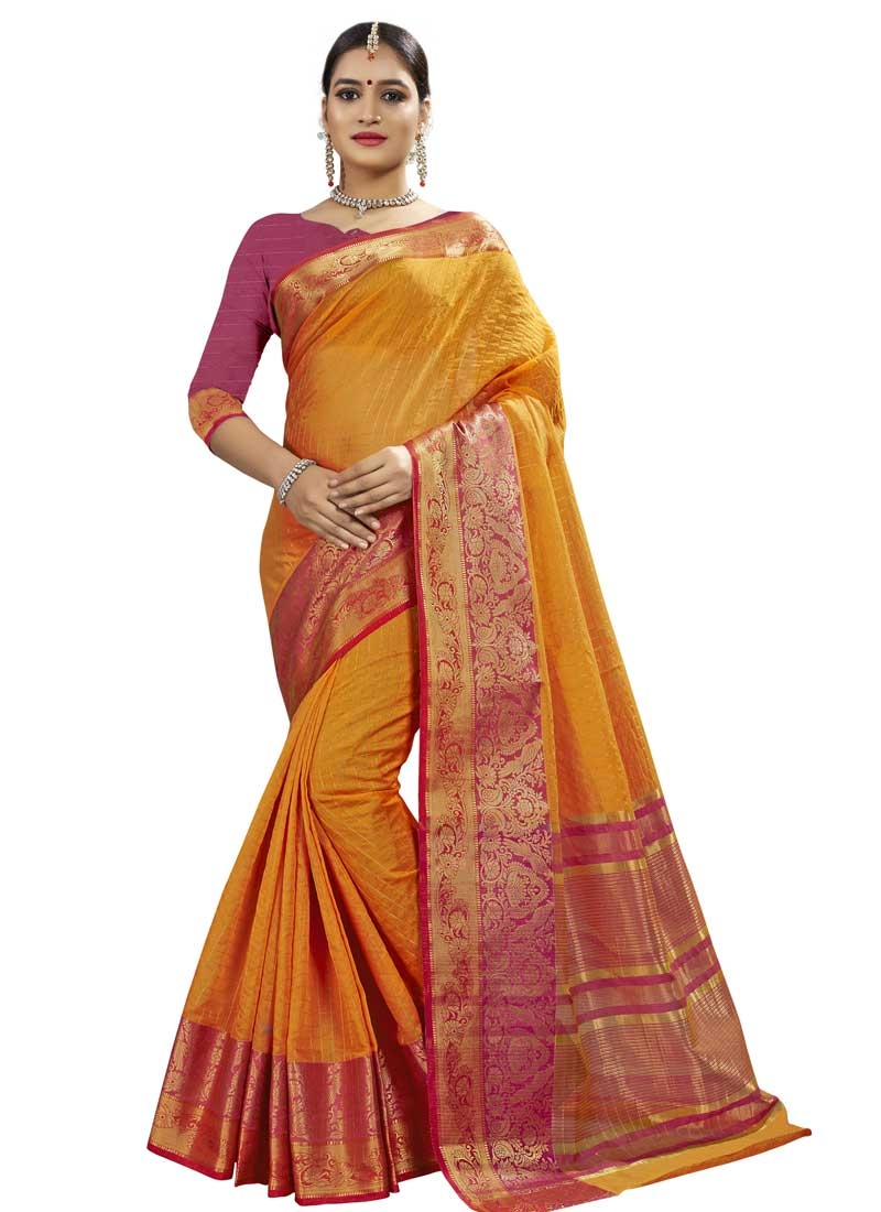 Thread Work Banarasi Silk Designer Contemporary Saree