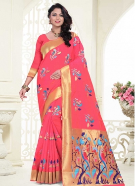 Thread Work Banarasi Silk Designer Traditional Saree