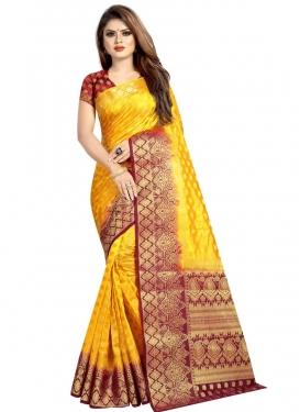 Thread Work Banarasi Silk Traditional Designer Saree