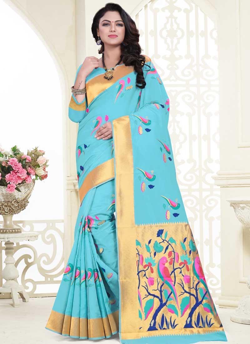 Thread Work Contemporary Saree