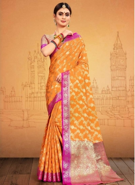 Thread Work Contemporary Style Saree