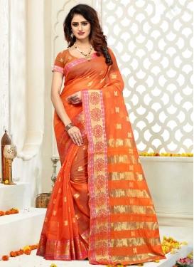 Thread Work Cotton Silk Designer Contemporary Saree