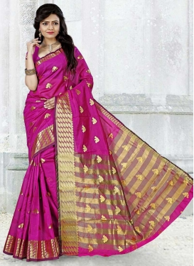 Thread Work Cotton Silk Designer Traditional Saree