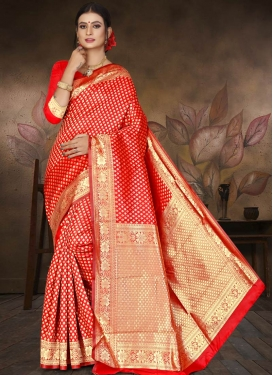 Thread Work Cotton Silk Traditional Saree