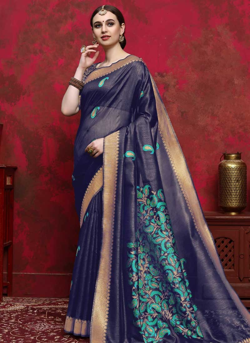 Thread Work Designer Contemporary Saree