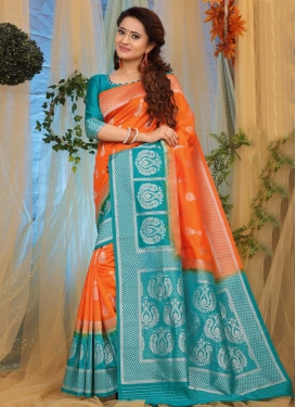 Thread Work Designer Contemporary Saree For Festival