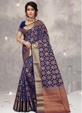 Thread Work Designer Contemporary Style Saree For Ceremonial