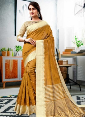 Thread Work Designer Contemporary Style Saree For Ceremonial