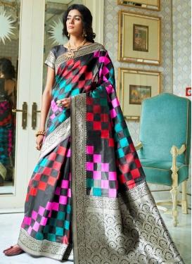 Thread Work Handloom Silk Contemporary Style Saree