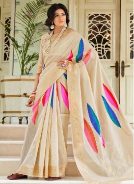 Thread Work Handloom Silk Traditional Designer Saree