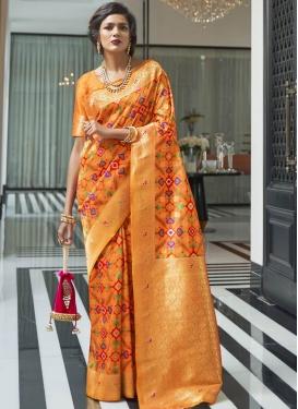 Thread Work Handloom Silk Traditional Saree