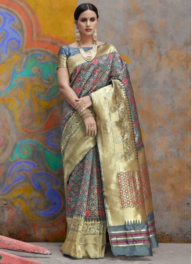 Thread Work Handloom Silk Trendy Classic Saree