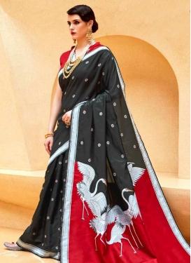 Thread Work Handloom Silk Trendy Saree