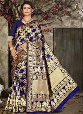 Thread Work Jacquard Silk Classic Saree
