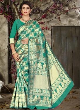 Thread Work Jacquard Silk Traditional Saree