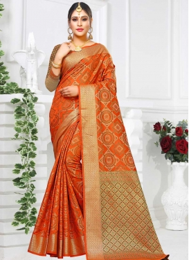 Thread Work Patola Silk Traditional Saree For Festival