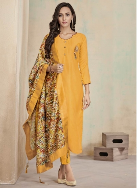 Thread Work Readymade Designer Salwar Suit