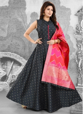 Thread Work Readymade Trendy Gown