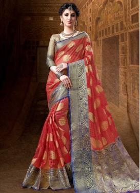 Thread Work Traditional Designer Saree