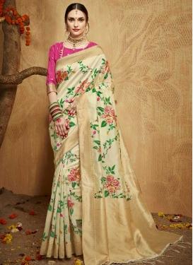 Thread Work Traditional Saree