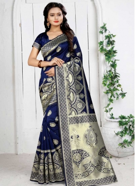 Thread Work Traditional Saree For Casual