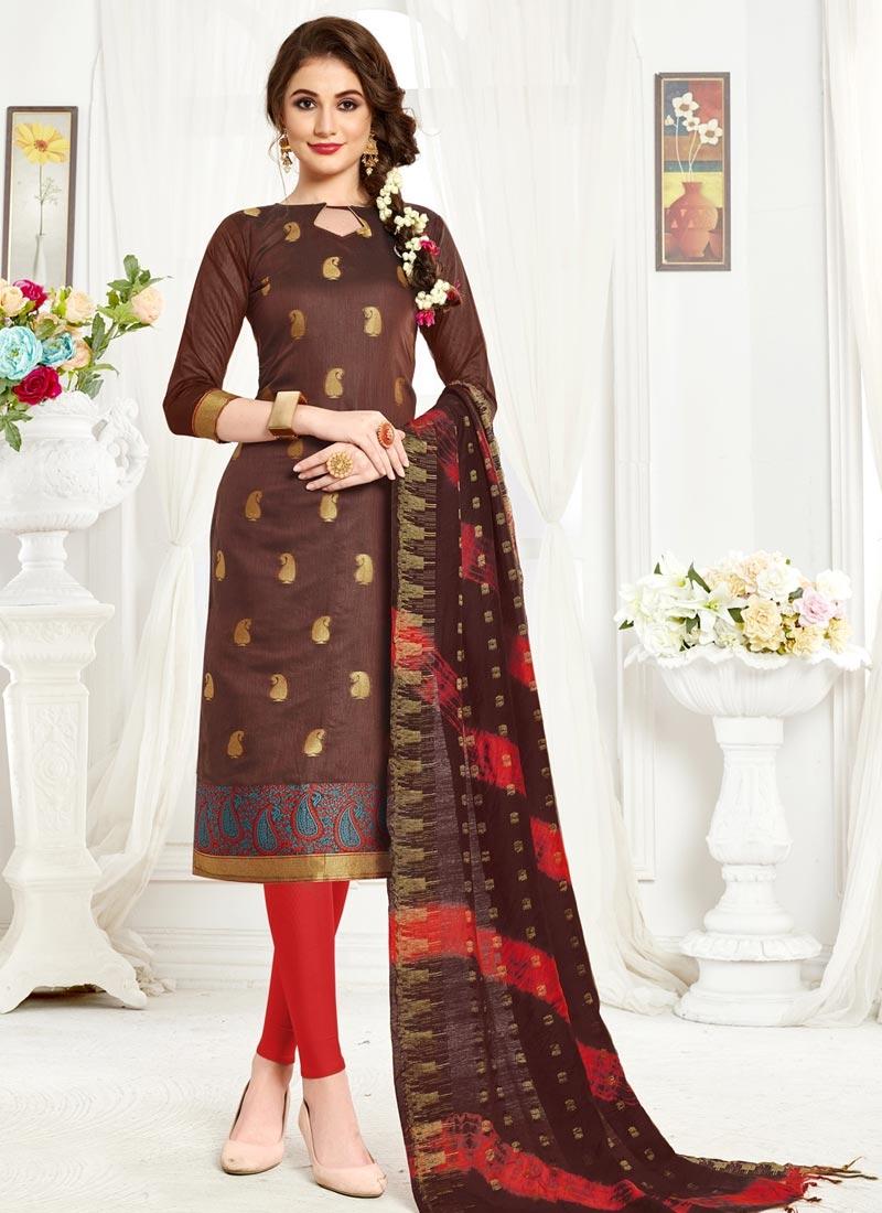 Thread Work Trendy Churidar Salwar Kameez