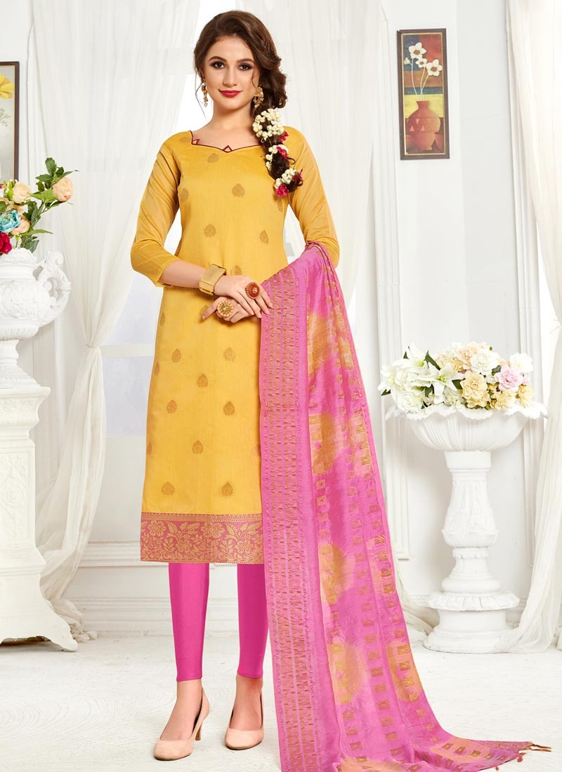 Thread Work Trendy Churidar Salwar Kameez