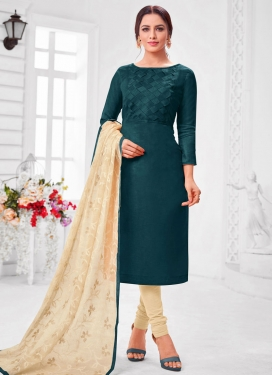 Thread Work Trendy Churidar Salwar Suit