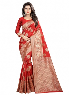 Thread Work Trendy Classic Saree For Ceremonial