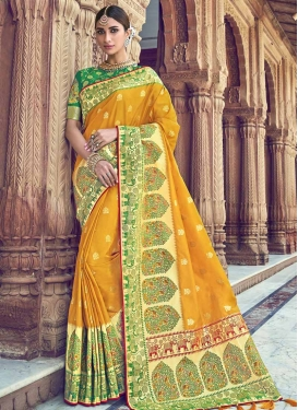 Thread Work Trendy Saree For Party