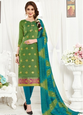 Thread Work Trendy Straight Salwar Suit