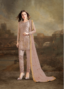 Thrilling Resham Party Pant Style Suit