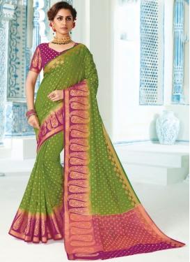 Tiptop Art Silk Weaving Green Traditional Saree