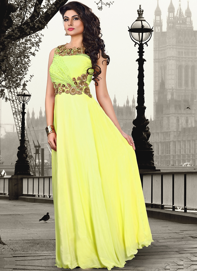 Tiptop Crepe Silk Party Wear Readymade Gown