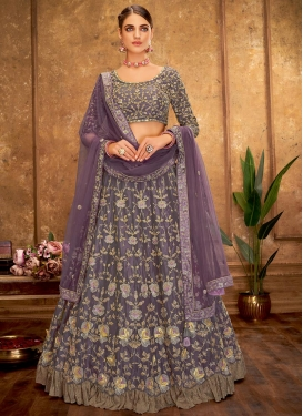Tissue A Line Lehenga Choli For Festival