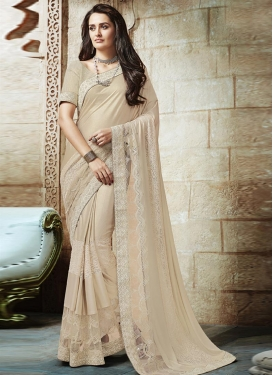 Embroidered Work Lycra Traditional Designer Saree