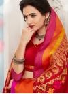 Transcendent Resham Red Traditional Saree - 1