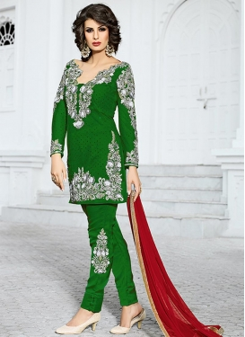Trendy Booti Work Net Pant Style Classic Suit