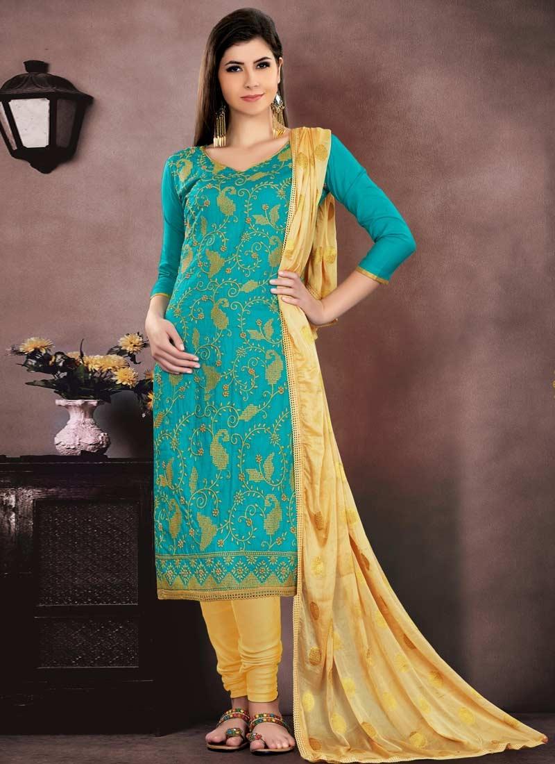 Trendy Churidar Salwar Suit For Ceremonial
