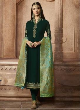 Trendy Churidar Salwar Suit For Festival